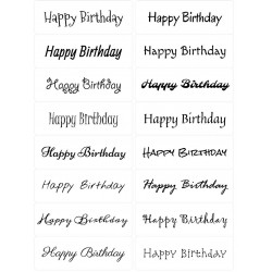 Easy Peel Self Adhesive Happy Birthday 2 by Essential Crafts