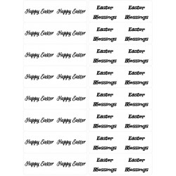 Easy Peel 32 Self Adhesive Easter Sentiments 1 by Essential Crafts
