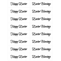 Easy Peel 16 Self Adhesive Easter Sentiments 1 by Essential Crafts