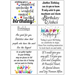 Easy Peel Self Adhesive Birthday Sentiments 2 by Essential Crafts