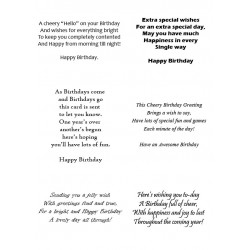 Easy Peel Self Adhesive Birthday Verses 2 by Essential Crafts