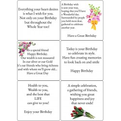 Easy Peel Self Adhesive Birthday Verses 4 by Essential Crafts