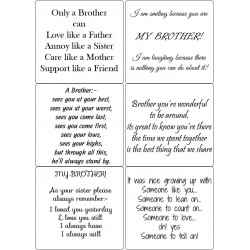 Easy Peel Self Adhesive Brother Quotes by Essential Crafts