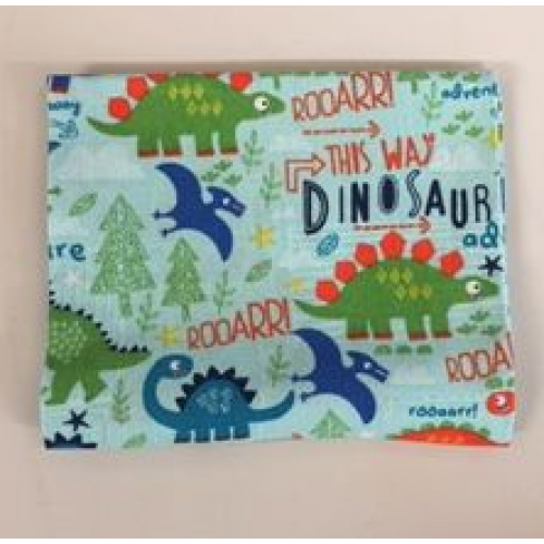 Fat Quarter Dinosaurs and Trees on Light Blue Background 100% Cotton Fabric
