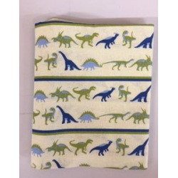 Fat Quarter Dinosaur Panels On Sandy Background 100% Cotton Fabric