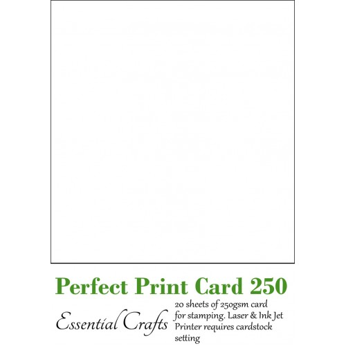 Perfect Print Card 250gsm (20 sheets) - by Essential Crafts