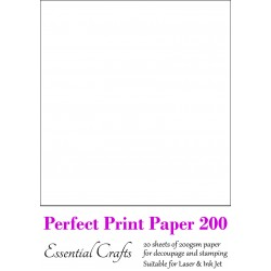 Perfect Print Paper 200gsm (20 sheets) - by Essential Crafts
