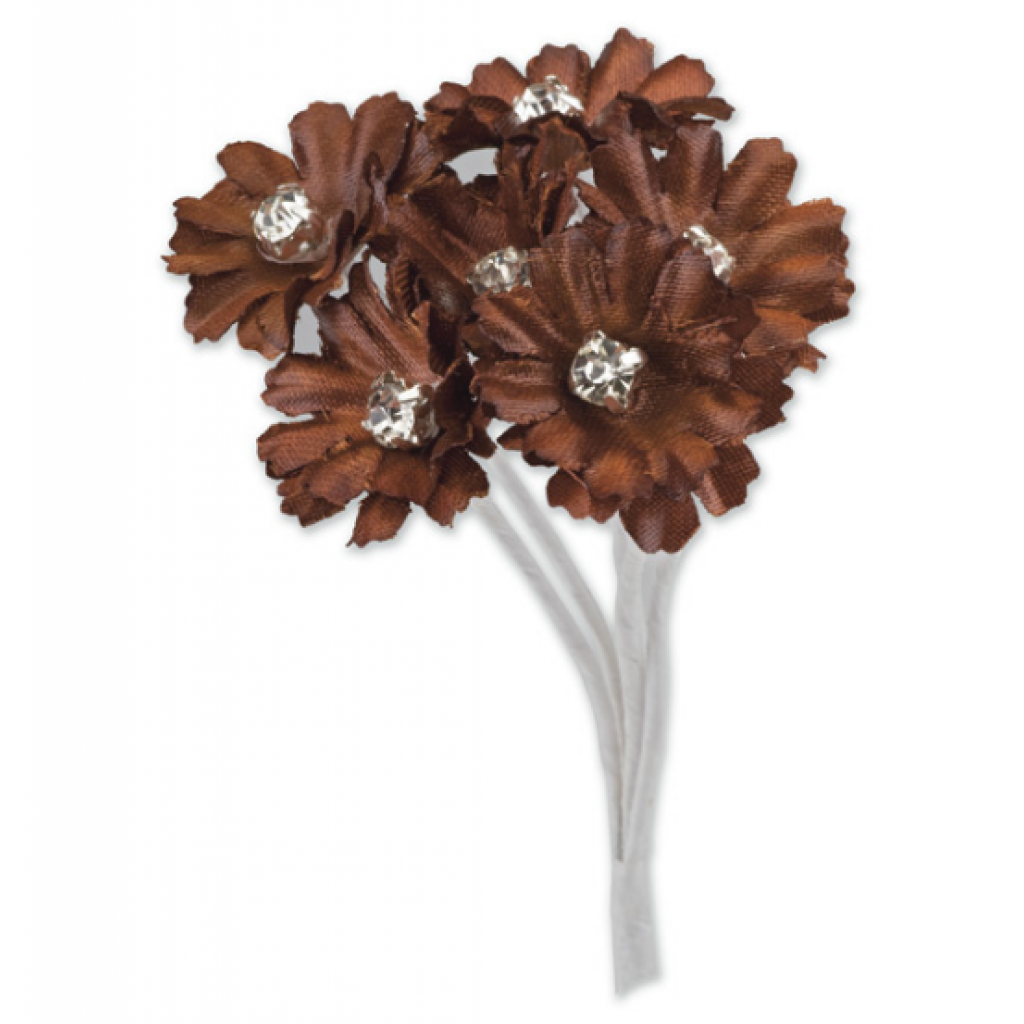 Silk Chocolate Brown Daisy With Diamante 6 Stems Embellishment We offer bouquets for all occasions and seasons. essential crafts