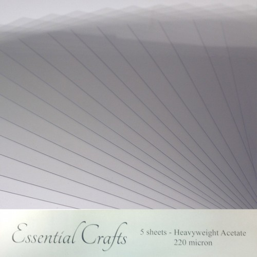 Essential Crafts A4 Clear Acetate Sheets pack of 10 - 140 micron