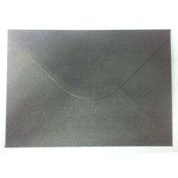 C5 Black Shimmer Envelopes Pack of 10