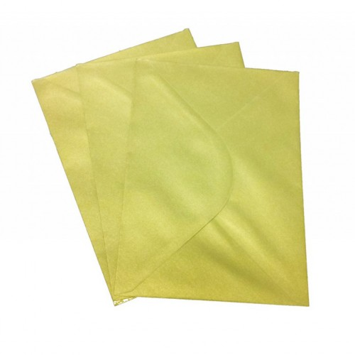 C6 Gold Envelopes Pack of 10