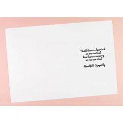 C5 Sympathy Verses Card Inserts - Pack of 10 (portrait)