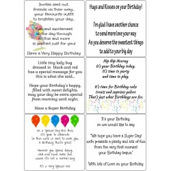 Easy Peel Self Adhesive Childrens Birthday Verses by Essential Crafts