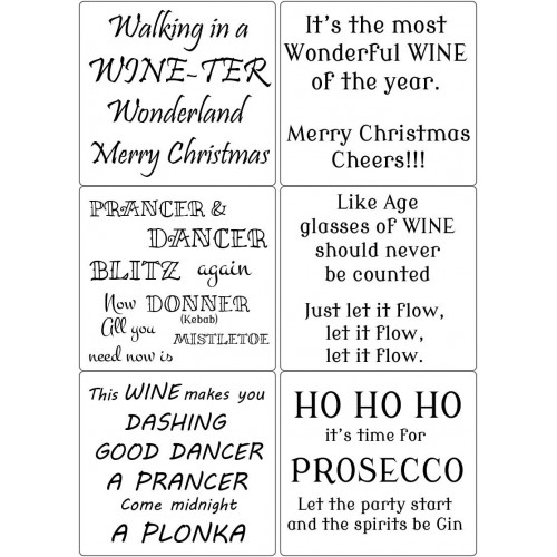 Easy Peel Self Adhesive Christmas Party Verses / Bottle Verses