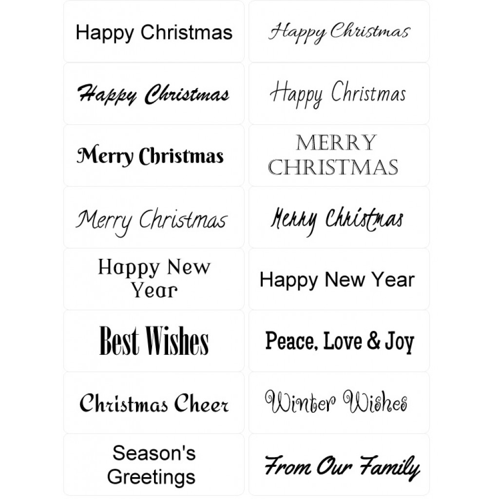 Peel Off Christmas Sentiments | Sticky Verses for Handmade Cards and ...