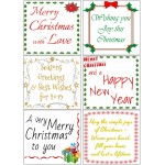 Easy Peel Self Adhesive Christmas Verses Set 2 - 7 Sheets