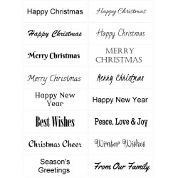 Easy Peel Self Adhesive Christmas Sentiments 1 by Essential Crafts