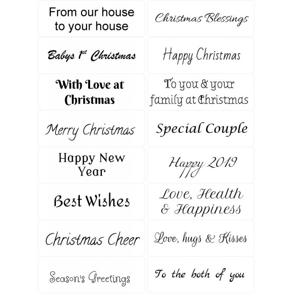 Christmas Sentiments For Cards.Easy Peel Self Adhesive Christmas Sentiments 3 By Essential Crafts