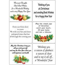 Easy Peel Self Adhesive Christmas Sentiments 4 by Essential Crafts