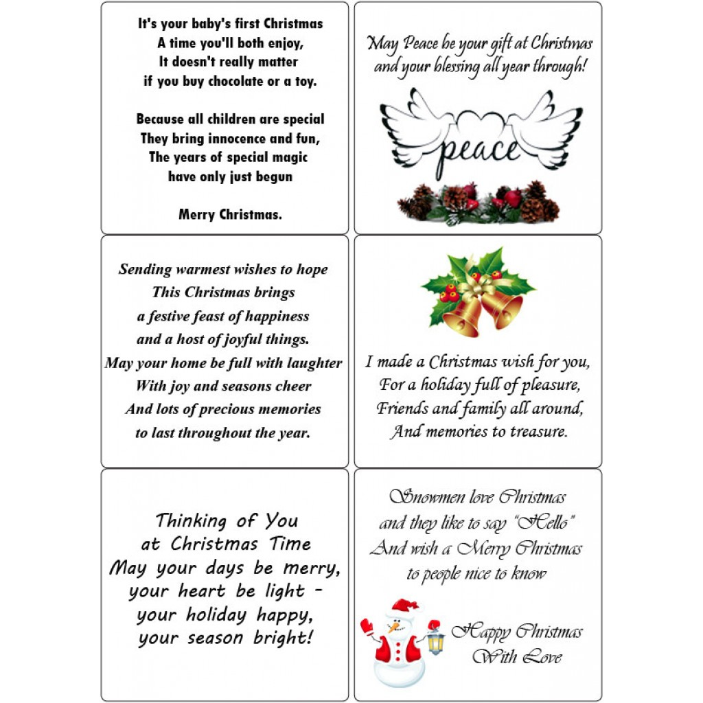 Peel Off Christmas Verses 1 Sticky Verses For Handmade