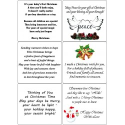 Easy Peel Self Adhesive Christmas Verses 1 by Essential Crafts
