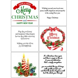 Easy Peel Self Adhesive Christmas Verses 4 by Essential Crafts