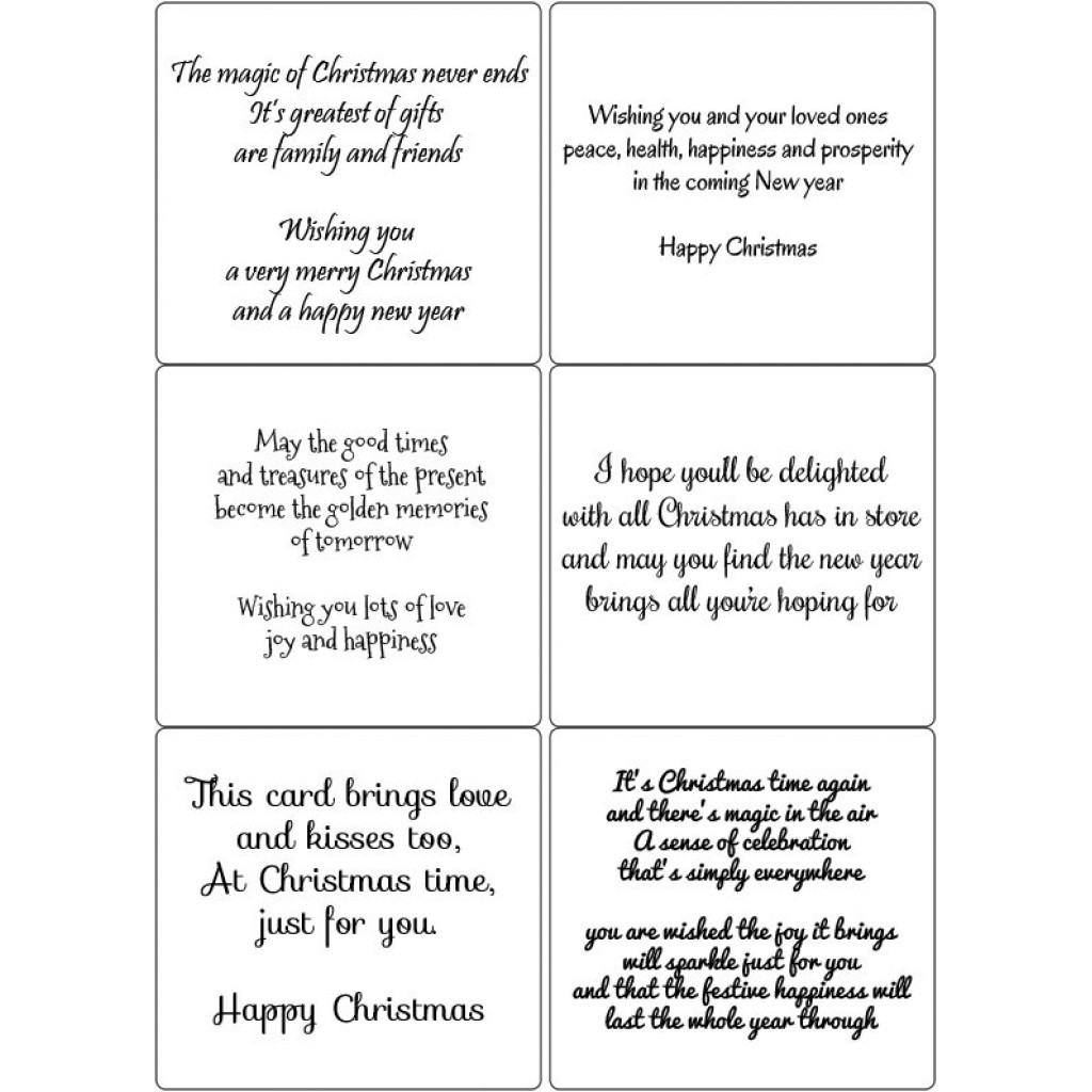 easy peel self adhesive christmas verses 5 by essential crafts - Christmas Verses For Cards