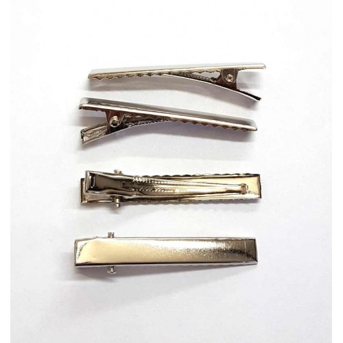Silver Crocodile Clips - Pack of 4