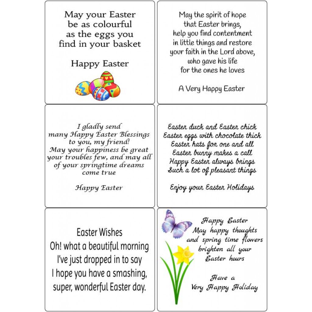 easter sentiments for handmade cards peel easter verses 2 sticky verses for handmade 2896