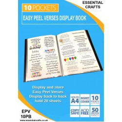 Easy Peel Verses Display Book - 10 Pockets (20 to view)
