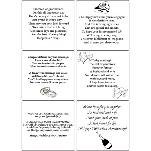 Easy Peel Self Adhesive Engagement, Wedding, Anniversary Verses 1 by Essential Crafts