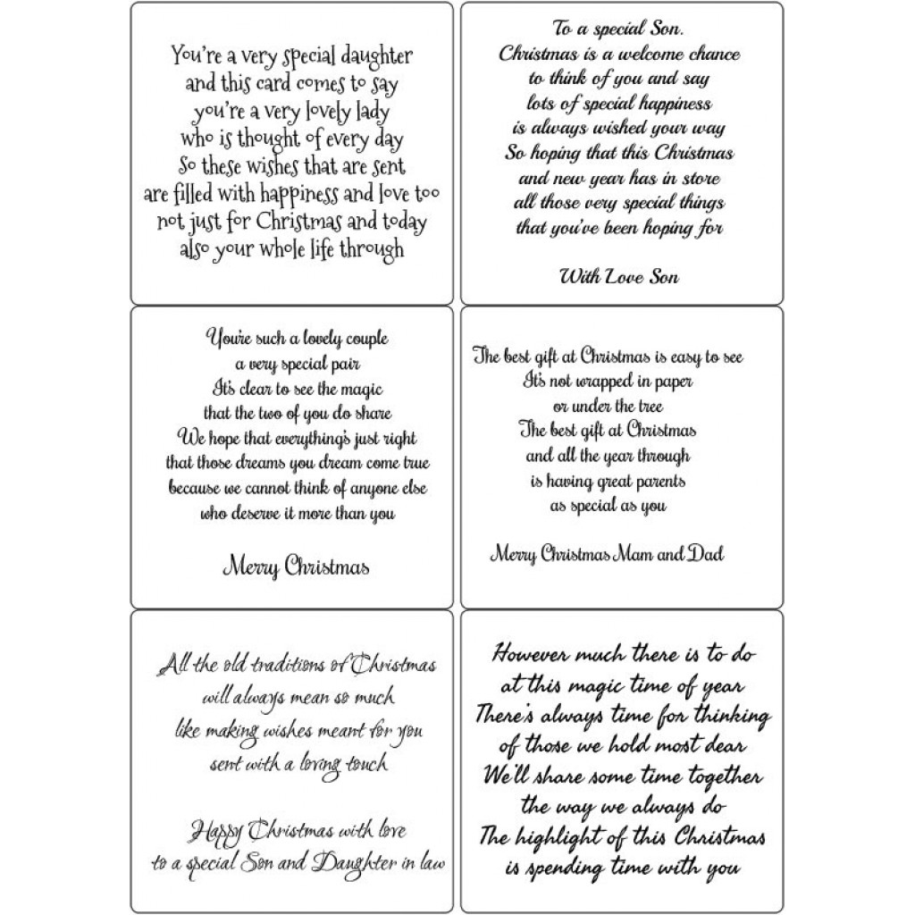 easy peel self adhesive family christmas verses 1 by essential crafts - Christmas Verses For Cards