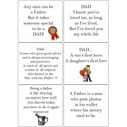 Easy Peel Self Adhesive Father Sentiments by Essential Crafts