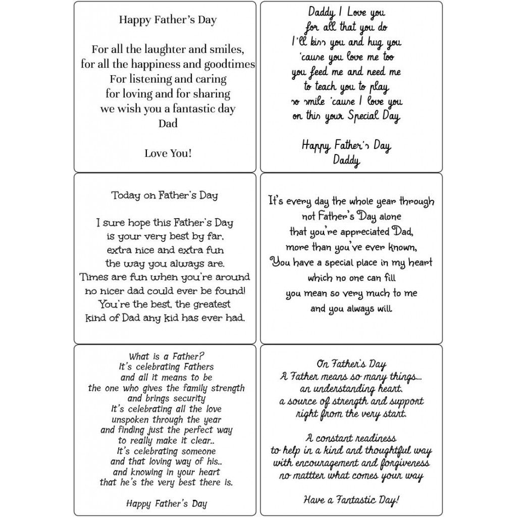 Peel Off Fathers Day Verses Sticky Verses For Handmade