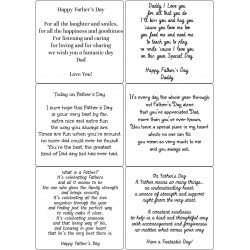 Easy Peel Self Adhesive Fathers Day Verses by Essential Crafts