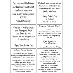 Easy Peel Self Adhesive Fathers Day Verses 2 by Essential Crafts