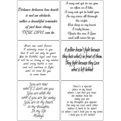 Easy Peel Self Adhesive Forces of Love Verses by Essential Crafts