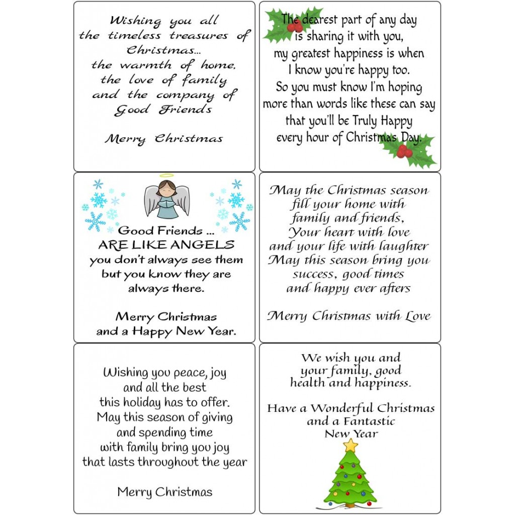 Verses for Cards Christmas SetTransparent Peel Off Stickers for Card Making