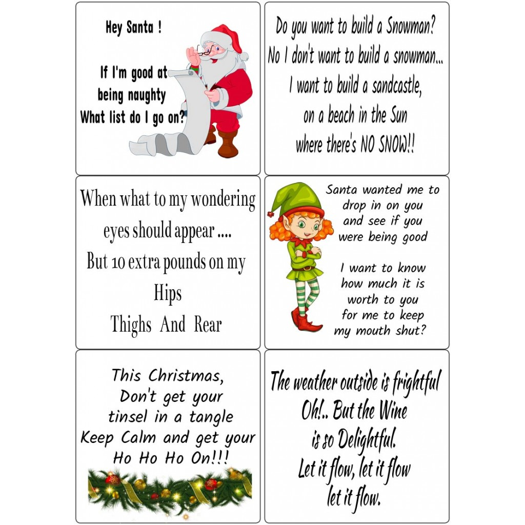 Funny Christmas Images.Easy Peel Self Adhesive Funny Christmas Quotes 2 By Essential Crafts