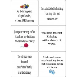 Easy Peel Self Adhesive Funny Knitting Quotes by Essential Crafts