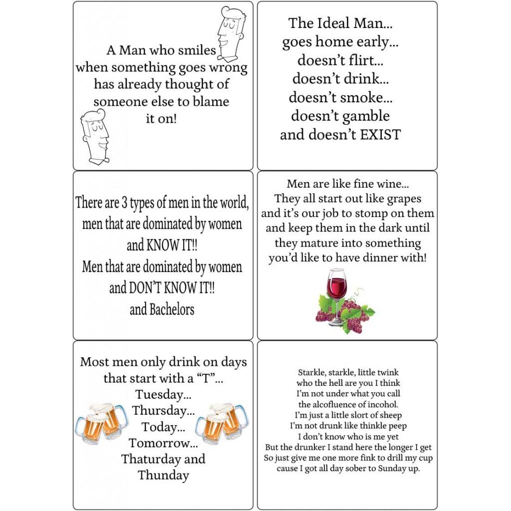 Peel Off Funny Men Verses Sticky Verses For Handmade Men