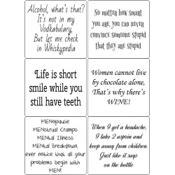 Easy Peel Self Adhesive Funny Quotes 2 by Essential Crafts