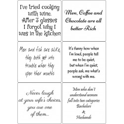 Easy Peel Self Adhesive Funny Quotes 4 by Essential Crafts