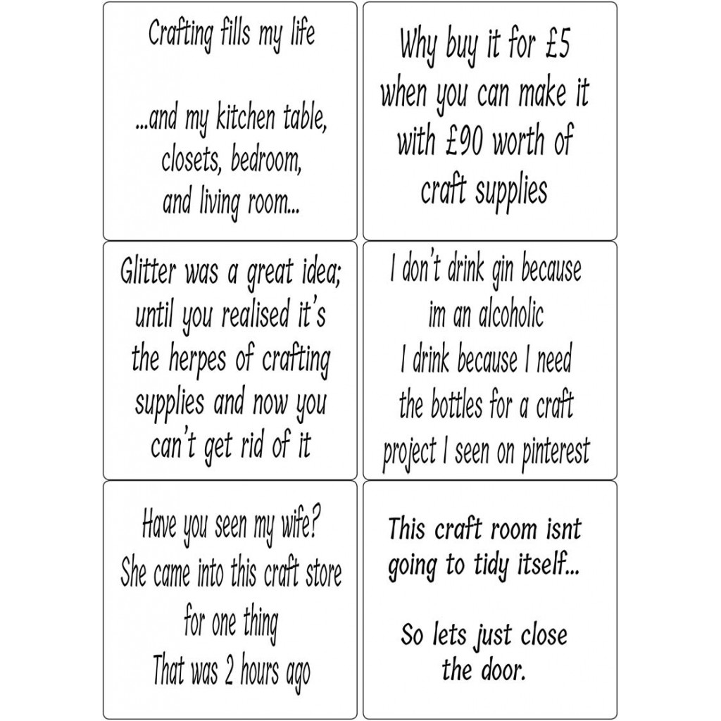 Peel Off Funny Quotes 6 Sticky Verses For Handmade Cards And Crafts