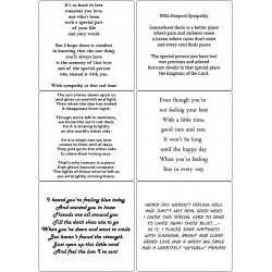 Easy Peel Self Adhesive Get Well & Sympathy Verses by Essential Crafts