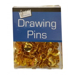 Gold Drawing Pins (approx 100)