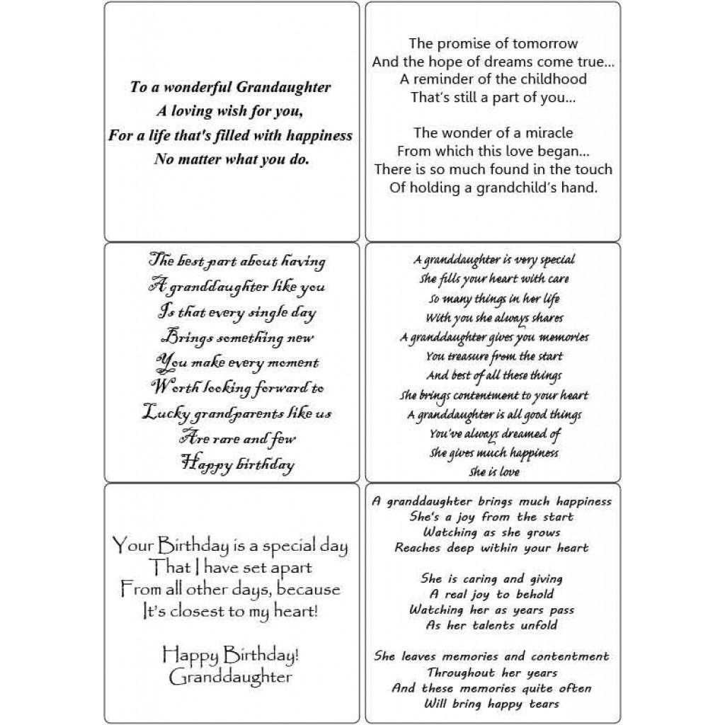 Peel Off Granddaughter Verses
