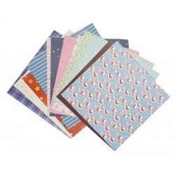 "Hunkydory 8"" x 8"" Patterned Paper - Various - Pack of 12"