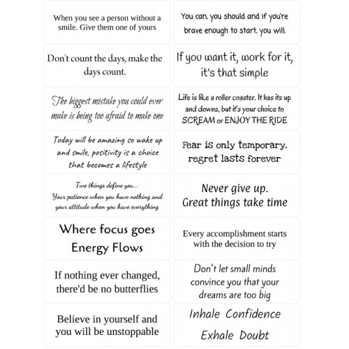 Easy Peel Self Adhesive Inspirational Quotes 1 by Essential Crafts