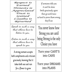 Easy Peel Self Adhesive Inspirational Verses 2 by Essential Crafts